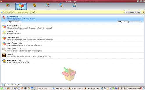 extensões para o Firefox